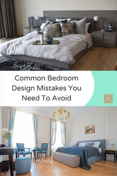 When it comes to decorating a bedroom, there are a lot of factors to keep in mind and there's a lot of room for error. Stay clear of these 8 common bedroom design mistakes and design your dream bedroom Home Decor Trends, Home Decor Styles, Cheap Home Decor, Decor Ideas, Small Room Bedroom, Dream Bedroom, Bedroom Decor, Bedroom Ideas, Beautiful Interior Design