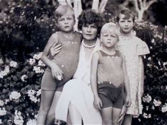 Sara Murphy with her children. Sons Baoth, Patrick and daughter Honoria.  The boys tragically died not too many years after this photo was taken.   Family photos by Man Ray