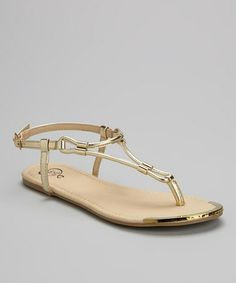 Love this Gold Miami Sandal on #zulily! #zulilyfinds