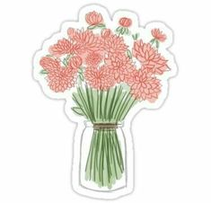 """""""Flower Watercolor"""" Stickers by Sorority Stickers Tumblr Stickers, Phone Stickers, Cool Stickers, Printable Stickers, Planner Stickers, Red Bubble Stickers, Collage, Aesthetic Stickers, Diy Phone Case"""