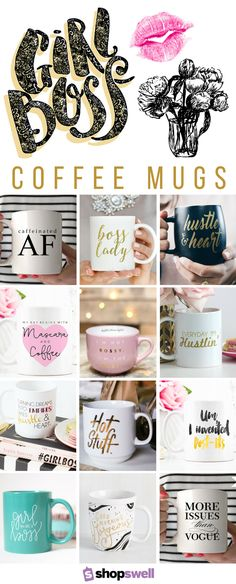 Let everyone at office know who's really in charge with one of these 20 coffee mugs, perfect for the Girl Boss.