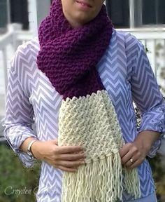 Plum Berry Scarf - Free crochet pattern by Croyden Crochet