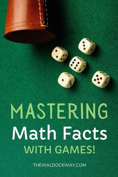 Mastering the math facts is important for kids, but can sometimes seem boring. So, why not learn how to make mastering the math facts fun? How To Start Homeschooling, Homeschool Curriculum, Mastering Math, Preschool At Home, Kids Learning Activities, Math Facts, Tot School, Teaching Kindergarten, Math Lessons