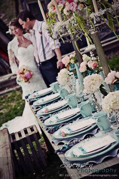Cores: Blush, champagne e azul Tiffany Perfect Wedding, Our Wedding, Dream Wedding, Wedding Dreams, Tiffany Blue Color, Azul Tiffany, Wedding Color Schemes, Wedding Colors, Tiffany Blue Weddings