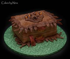 Harry Potter Monster Book of Spells  Cake by cakesbynina