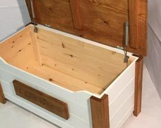 toy box Items similar to Hand made personalised toybox with built in bookshelf on Etsy Wooden Toy Boxes, Wood Boxes, Woodworking Projects Diy, Woodworking Plans, Craft Projects, Furniture Plans, Diy Furniture, Toy Box Plans, Toy Storage Boxes