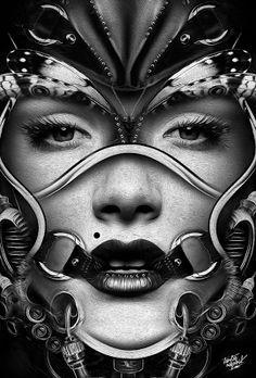 Obery Nicolas nos vuelve a sorprender con sus geniales trabajos. Fantasmagorik Dark v. Queen.