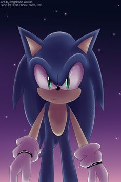 gotta go fast!  Sonic the Hedgehog by VagabondWolves.deviantart.com on @deviantART