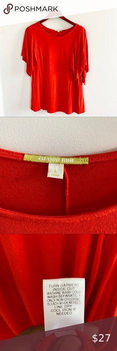 Gianni Bini Top | Color: Orange | Size: L Gianni Bini Tops, Blouse | Color: Orange | Size: L Gianni Bini Tops Blouses Gianni Bini, Hermes Kelly, Fashion Tips, Fashion Trends, Fashion Design, Orange Color, Top Colour, Best Deals, Sleeves