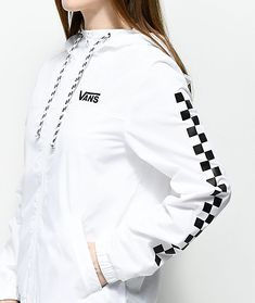 7bc49d02fa Vans Kastle MTE White Checker Windbreaker Jacket