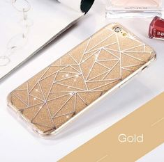 Gold Lines iPhone Cases