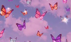 Aesthetic butterfly background