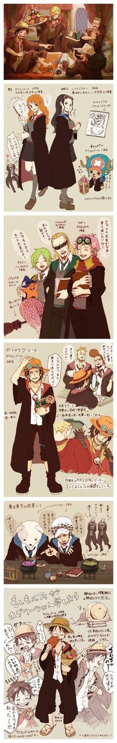 amazing One piece/Harry Potter crossover