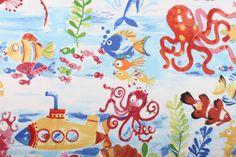 Under the sea! fun & colourful fabric - 100% cotton