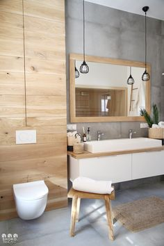 La rénovation dun duplex en tons naturels à Varsovie - PLANETE DECO a homes world Zen Bathroom, Modern Bathroom, Small Bathroom, Bad Inspiration, Bathroom Inspiration, Bathroom Interior Design, Interior Design Living Room, Toilette Design, Duplex