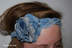 DIY: Make Your Own Fabulous Headbands recycling old denim jeans - These are perfect to go with your festival outfit