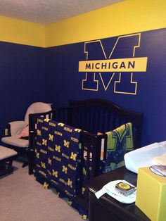 University of michigan themed bedroom google search colts room pinterest bedrooms room for Ohio state bedroom paint ideas