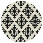 Evolution Black 11 ft. 9 in. x 11 ft. 9 in. Round Area Rug