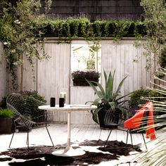 Outdoor living terrace | Modern courtyard gardens - 10 of the best | housetohome.co.uk
