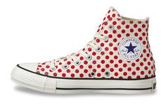 converse japan red polka dot hi tops
