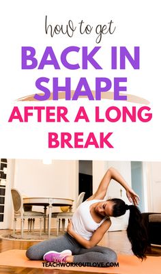 Are you looking for some useful fitness tips to get back into some good habits? It happens to almost everyone. We get into shape and then take a break. Here's steps you should take if you want to get back in shape after a long break. #fitness #health #exercise #physicalactivity #getbackinshape #weighloss #workout