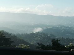 Morning view from Cidra of The Cordillera Central in Cayey