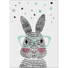 Sparkling Paper Poster Mr. Rabbit - 42 x 60 cm