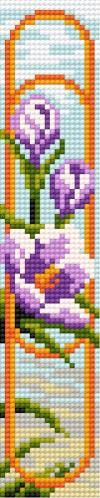 Cross-stitch pattern (flowers)