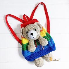 Crochet Backpack Pattern, Graph Crochet, Crochet Square Patterns, Crochet Doll Pattern, Baby Knitting Patterns, Crochet Designs, Crochet Dolls, Knitting Yarn, Crochet Hats