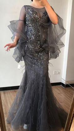 Stylish Dress Designs, Stylish Dresses, Elegant Dresses, Elegant Evening Gowns, Stylish Gown, Sequin Evening Dresses, Long Evening Gowns, Couture Dresses, Fashion Dresses