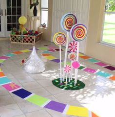 Life size games for Candy Land themed party. Candy Themed Party, Candy Land Theme, Party Themes, Party Ideas, Candyland Games, Life Size Games, Festa Monster High, Monster Party, Candy Land Christmas