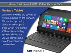 Microsoft Windows 8, WP8: 10 Fast Facts for CIOs - Mobile and Wireless