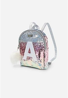 Justice is your one-stop-shop for on-trend styles in tween girls clothing & accessories. Shop our Ombre Sequin Initial Mini Backpack. Girly Backpacks, Fashion Bags, Fashion Backpack, Cute Uggs, Diy Gift For Bff, Barbie Doll Set, Mini Backpack Purse, Trendy Purses, Latest Bags