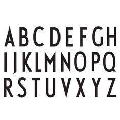Arne Jacobsen typography   dato curioso : en danés el uso de la ´w´ es muy reciente y escaso.