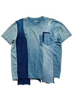 kapital boro t-shirt Remake Clothes, American Casual, Vintage Denim, Vintage Fashion, T Shirt Crop Top, Date Outfit Casual, Denim Top, Denim Fashion, Button Up Shirts