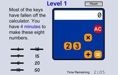 "In ""Broken Calculator"" students use the broken calculator to create proper equations with the remaining keys. #STEM #Math #ccss 4.OA.A.2, 5.NBT.A.3a, 5.NBT.B.5, 5.NBT.B.6, 6.EE.A.1, 7.NS.A.1d, 8.EE.A.2"