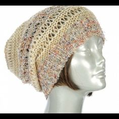 Multi colored beanie! Brand new, boutique quality!! Taupe multi colored 100% acrylic slouch beanie! Super soft! Accessories Hats