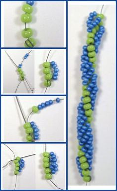 Spiral stitch for beaded ropes is demystified in this expert beading article.
