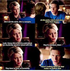 So glad that Liz eventually came around but Matt was so sweet for defending Caroline.