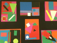 Art et géométrie - Auguste Herbin Kindergarten Art Lessons, Art Lessons Elementary, High School Art, Middle School Art, Pre School, Art Education Projects, Art Projects, Shapes Worksheets, Creation Art