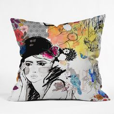 Holly Sharpe Dreamer Throw Pillow   DENY Designs Home Accessories