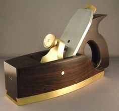 :: Crafty :: Wood :: Blackwood Smoothing Plane with Brass Sole