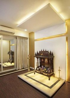 Modern Pooja Room Designs In Hall