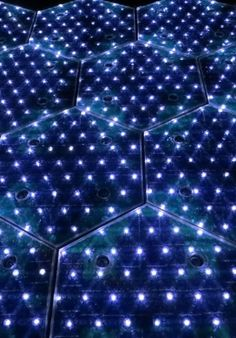 This solar roadway generates power, adjusts to heat or cold, and lights up roadways with LEDs.