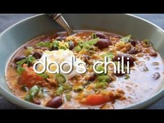 Dad's Homemade Chili Recipe | Kitchen Explorers | PBS Parents (Can easily be made vegetarian)