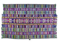 Merina, Madagascar, late C19th, brocaded Bombyx silk shawl. Af1949,10.1
