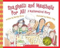 Spaghetti And Meatballs For All! (Scholastic Bookshelf: Math Skills) by Marilyn Burns Division anyone? Teaching Measurement, Teaching Math, Teaching Ideas, Primary Teaching, Measurement Activities, Math Literacy, Kindergarten Math, Primary School, Math Literature