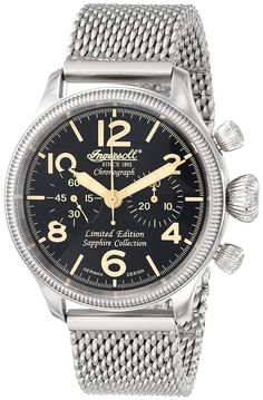 Ingersoll Men's IN4610BKMB 'Wells Fargo III' Automatic Stainless Steel Watch with Mesh Bracelet * Read more  at the image link. (This is an Amazon Affiliate link and I receive a commission for the sales)