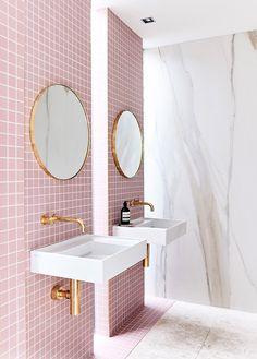 Home Interior Inspiration .Home Interior Inspiration Diy Bathroom, Small Bathroom, Bathroom Vanities, Pink Bathrooms, Gold Bathroom, Bathroom Ideas, Modern Bathroom, Bathroom Goals, Bathroom Colors