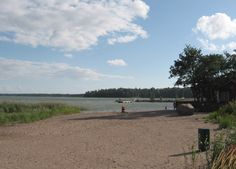 The beach of Klobben (Espoo, Finland).